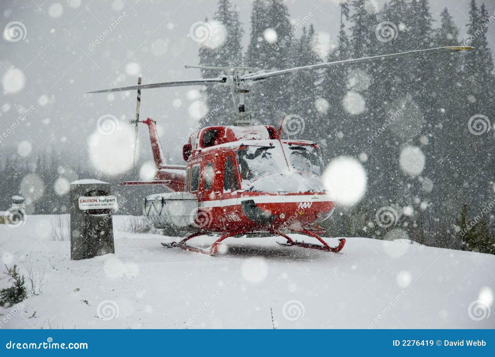 Blizzard, heli-skiing.