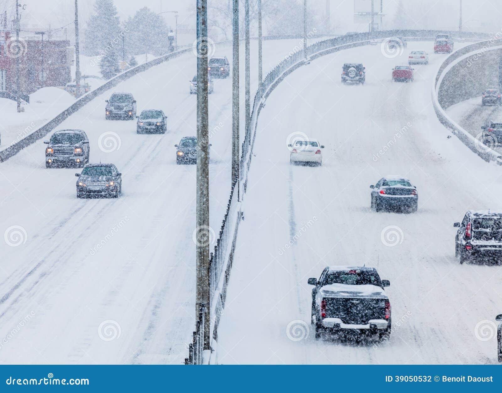 Blizzard na estrada