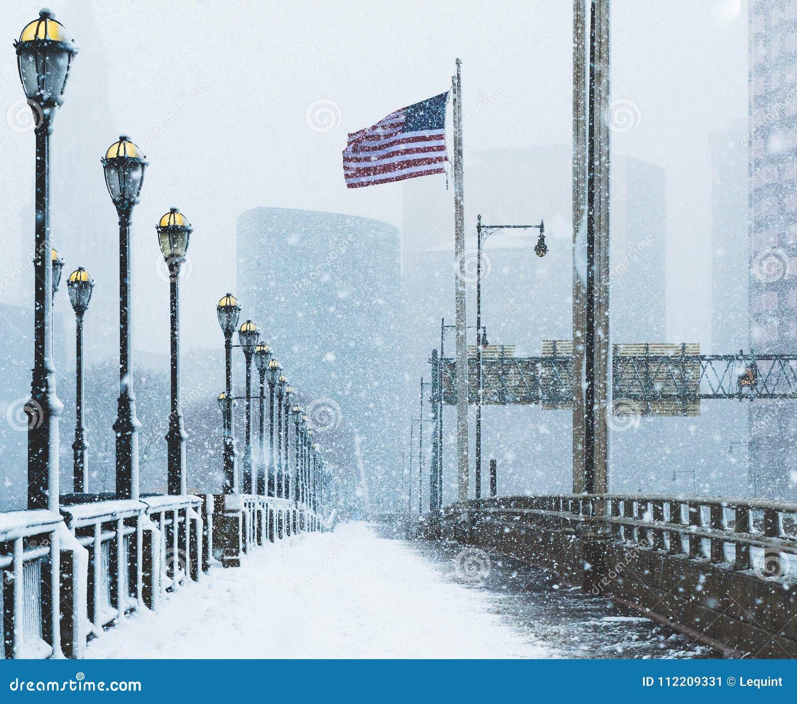 Blizzard noch ` Ostern am 13. März 2018 in Hartford Connecticut Neu-England