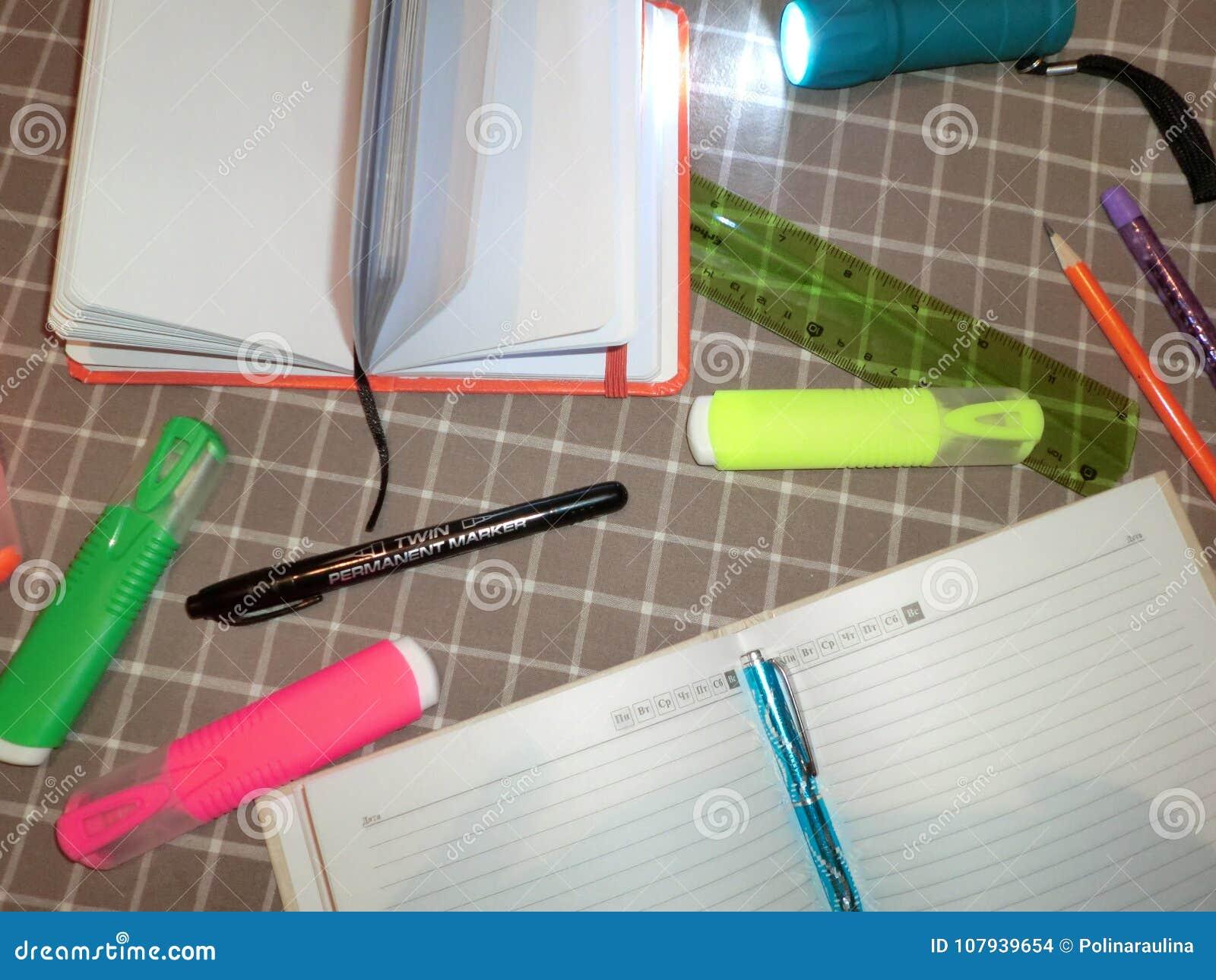 Bloc Notes De Maquette Journal Intime Avec Le Stylo Crayon Regle
