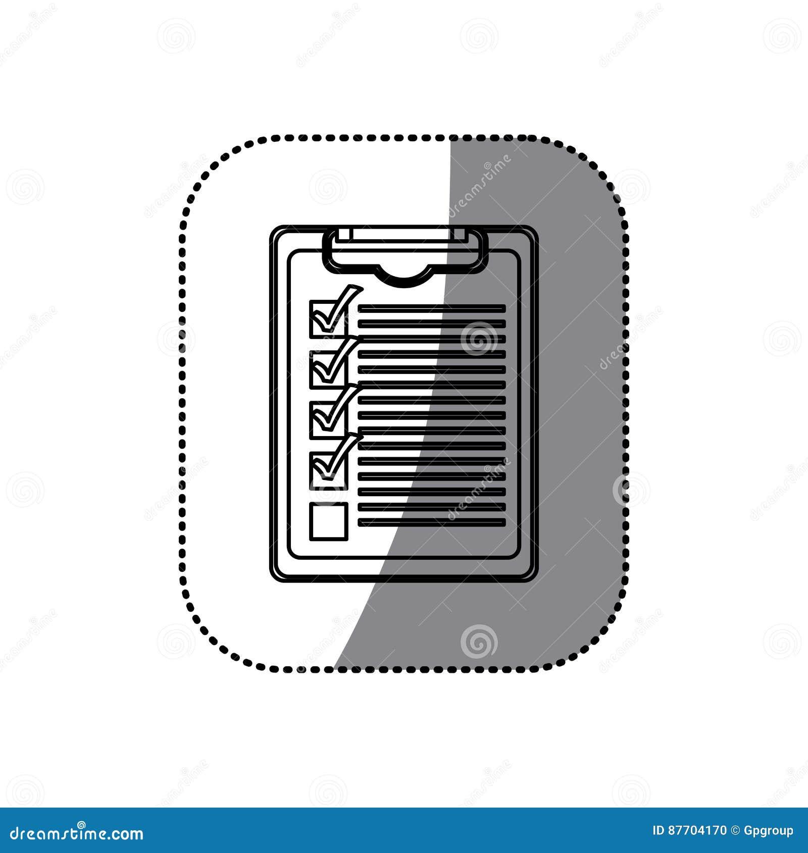 Bloc-notes de table de silhouette d autocollant avec la liste de contrôle
