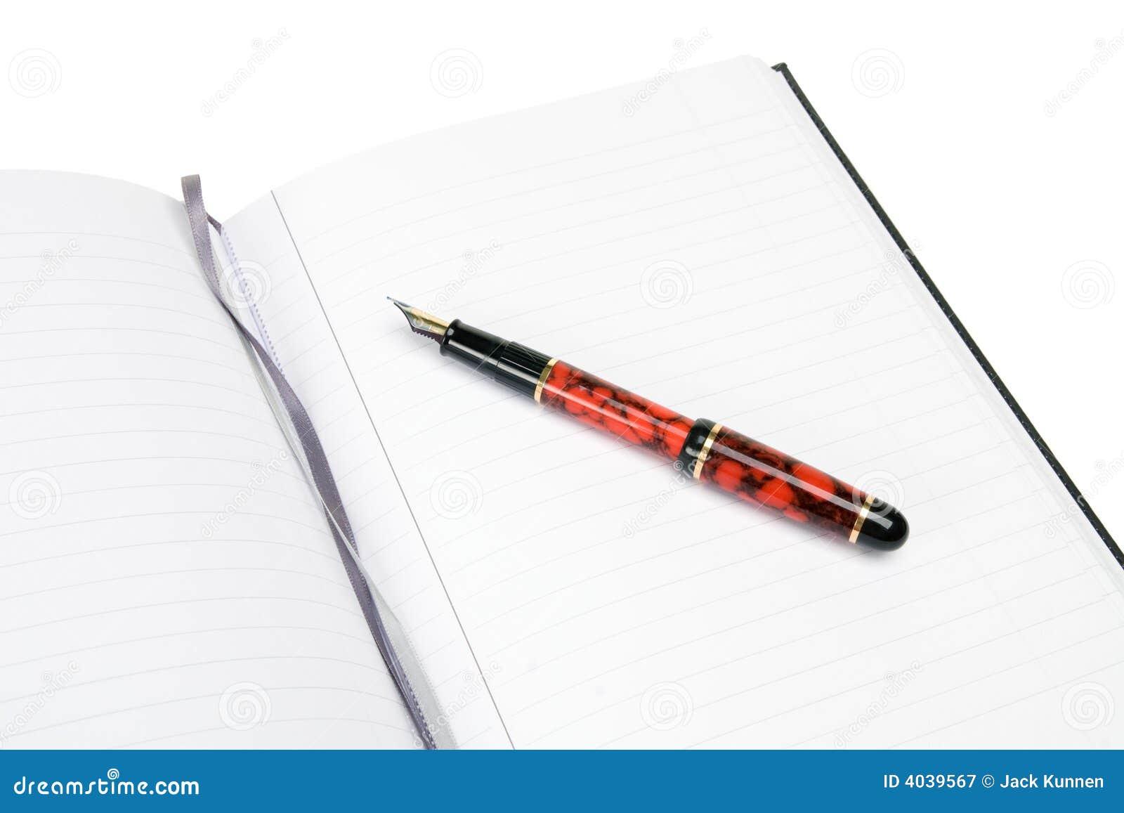 Bloc - notes et stylo-plume