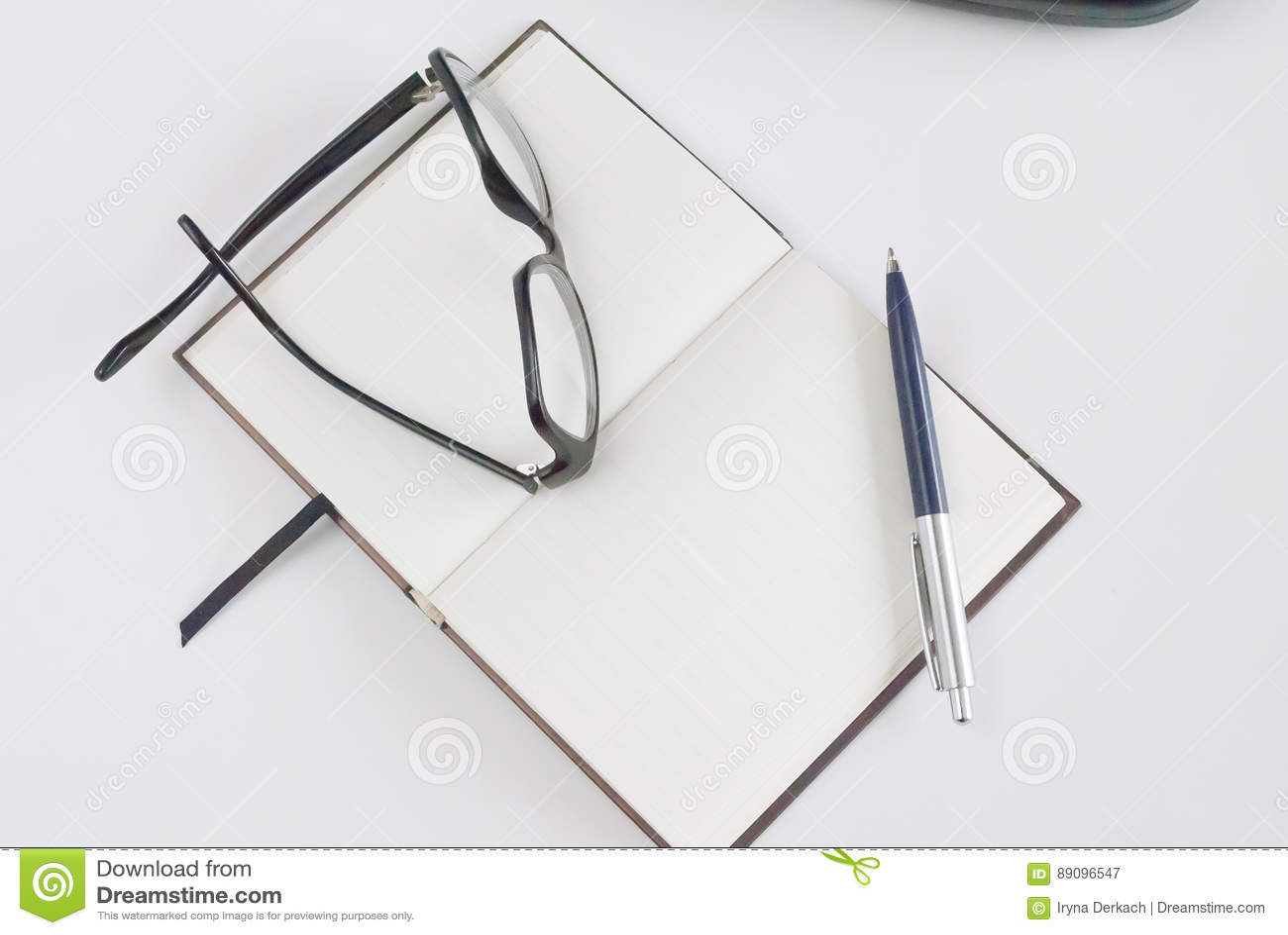 Bloc Notes Pour écrire Le Texte Image Stock Image Du Bloc