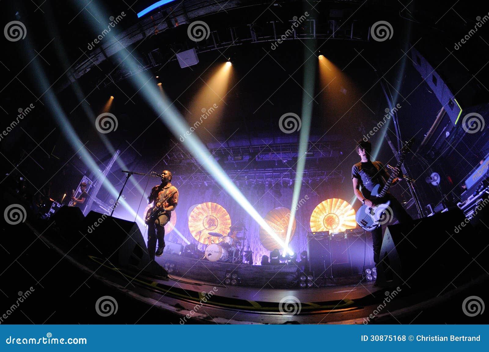 Bloc Party, britischer indie Rockband, führt an den Razzmatazz-Vereinen durch.