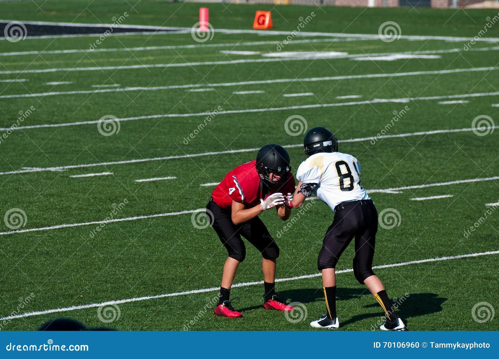Blocage de joueurs de football américain de lycée