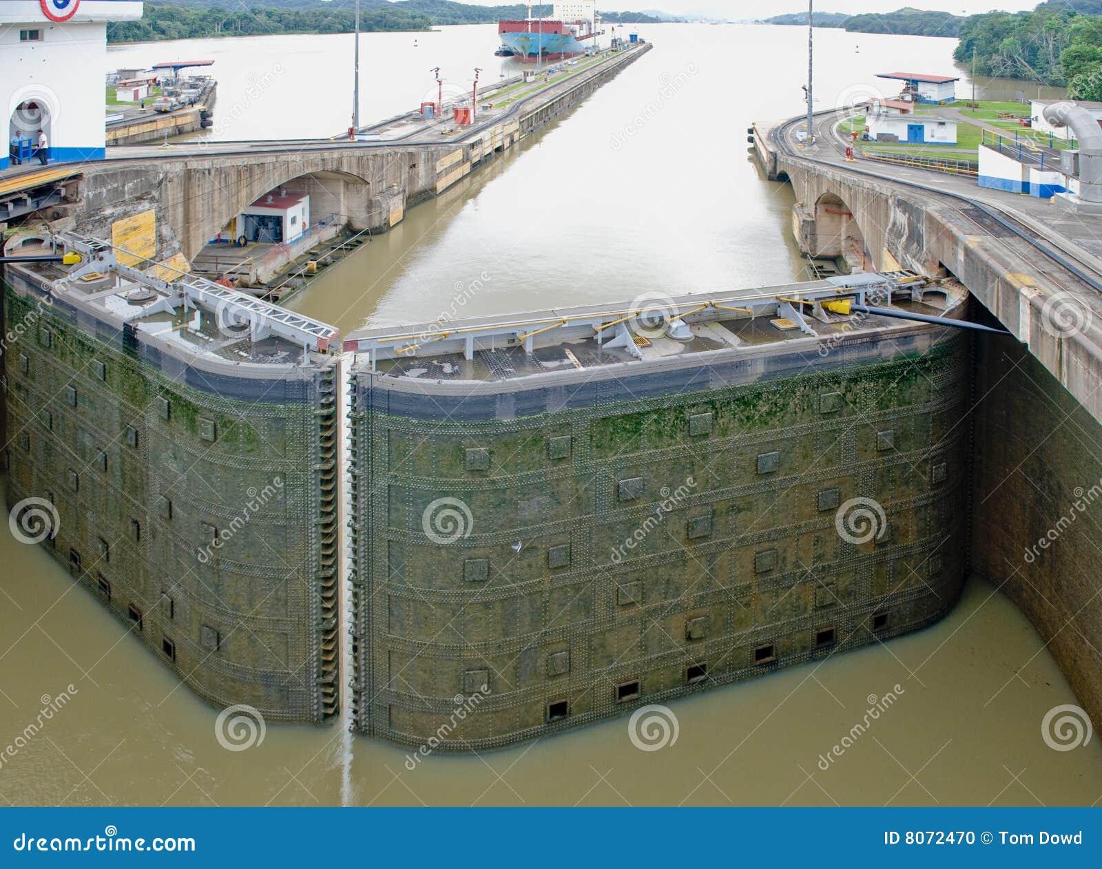 Blocage Panama de porte de canal