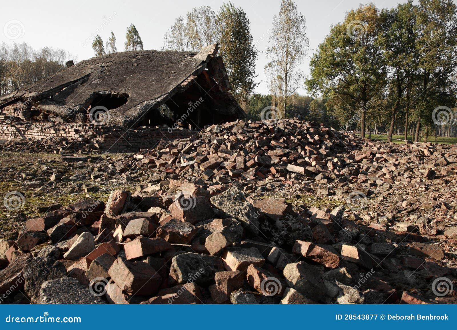 Blocaille des chambres gaz d truites auschwitz for Auschwitz chambre a gaz