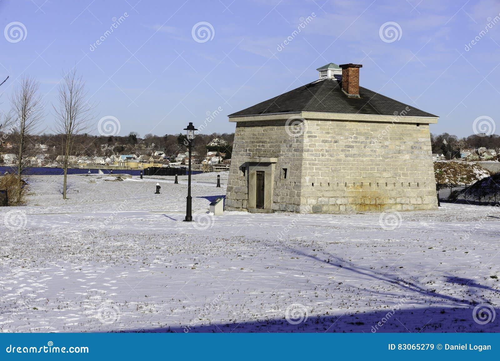Blocao en el parque de estado de Trumbull del fuerte