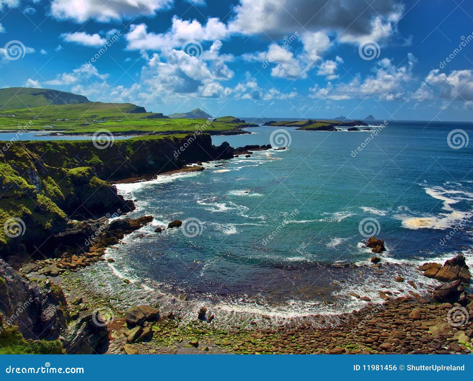 Bloccaggio scenico dall anello del kerry, Irlanda