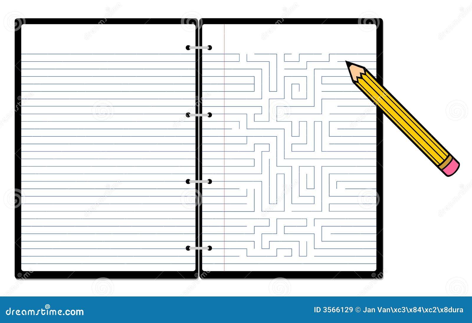 Blocchetto per appunti con la matita