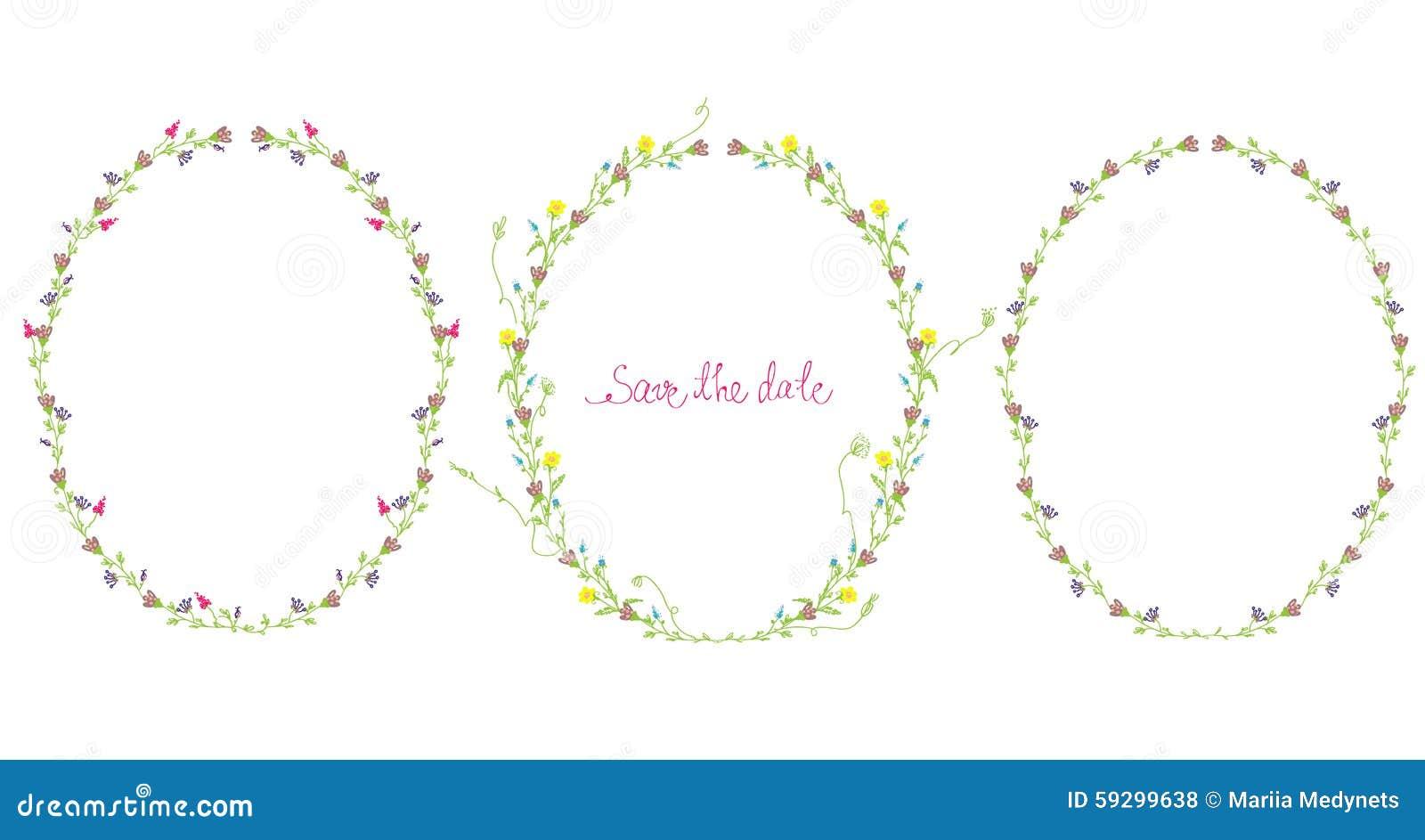 Blocchi per grafici floreali impostati