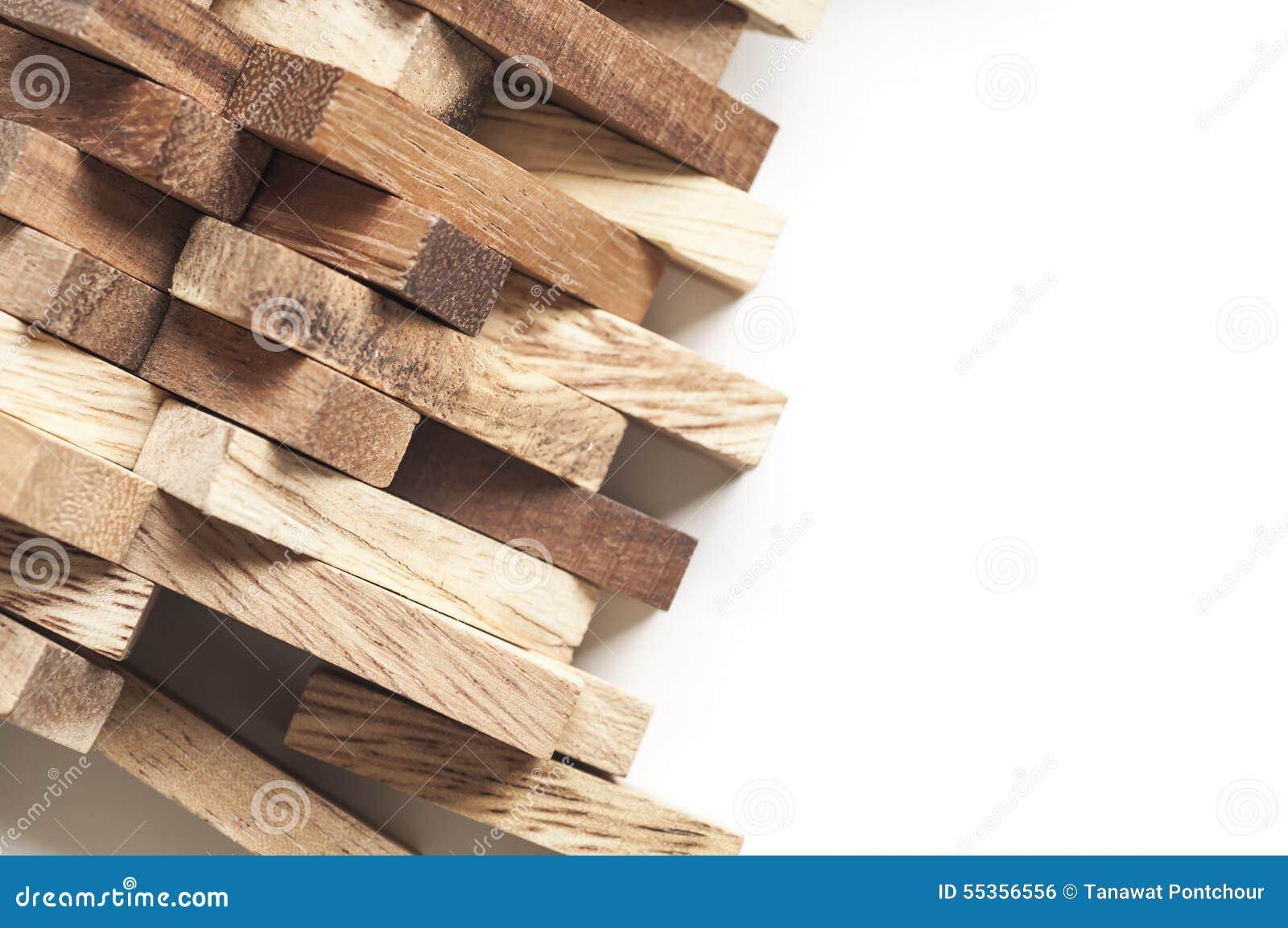 Blocco di legno astratto