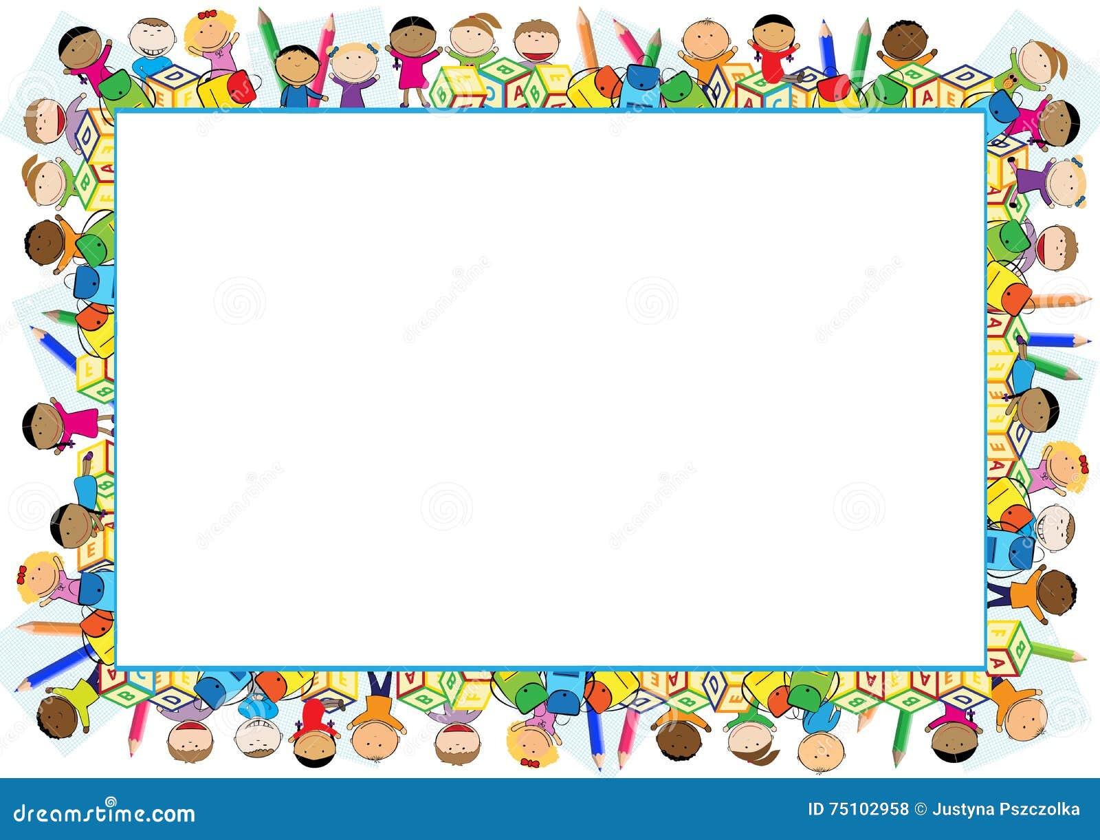 Blocco per grafici colorato per i bambini illustrazione di for Cornici per foto colorate