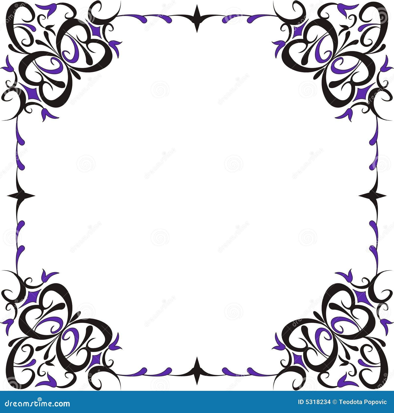 Download Blocco Per Grafici Decorativo Illustrazione Vettoriale - Illustrazione di telaio, disegno: 5318234