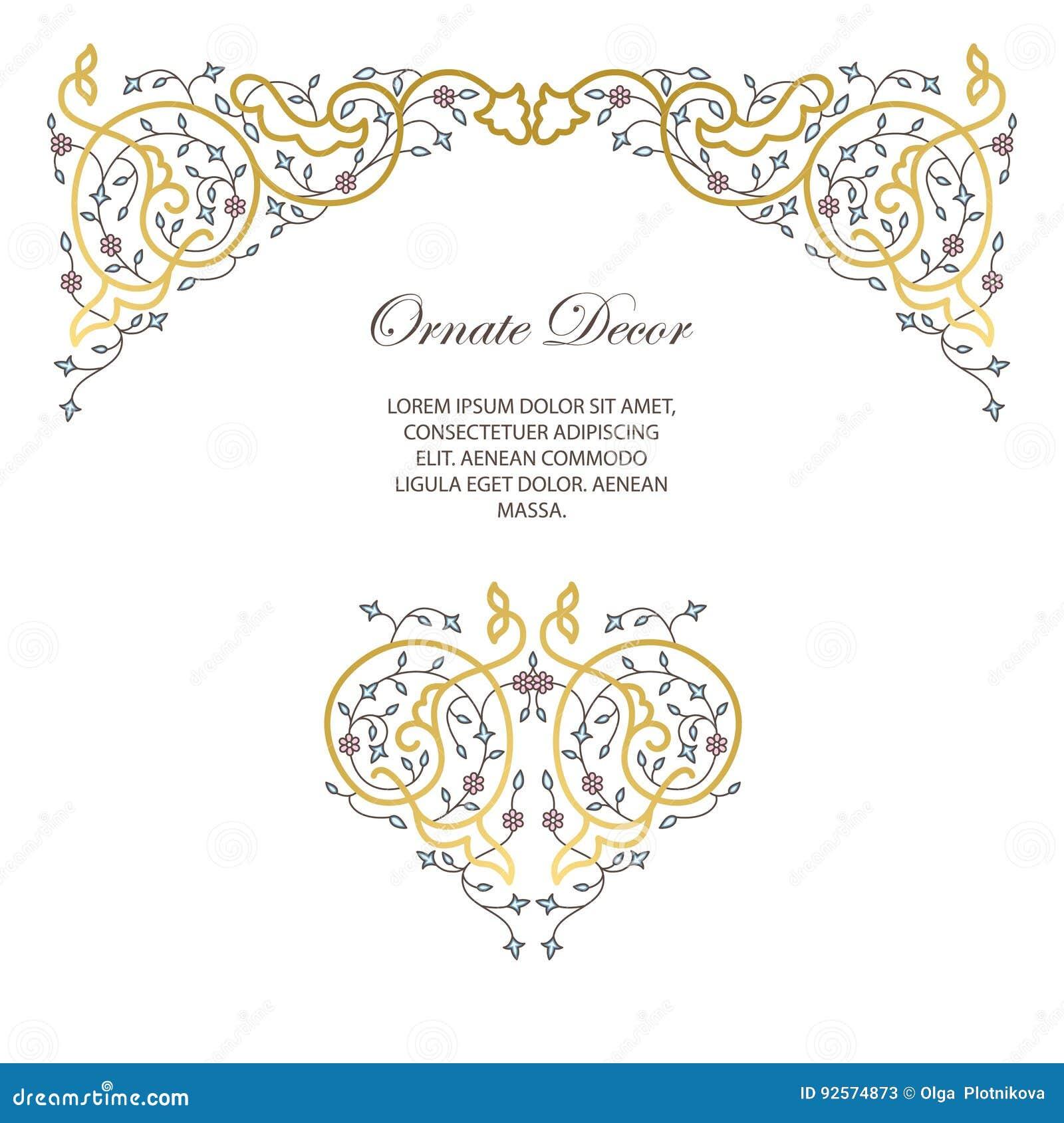 Blocco per grafici decorativo ornamentale di vettore