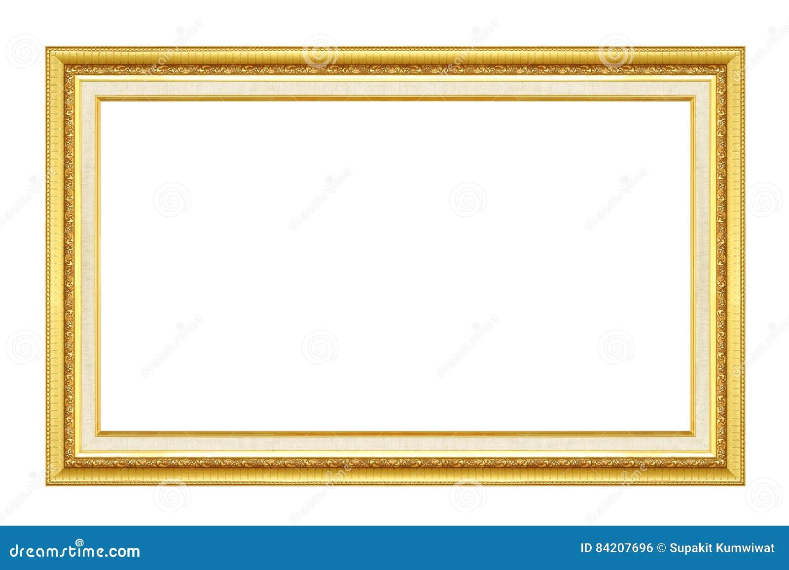 Blocco per grafici dell oro L oro/ha dorato le arti ed elabora la cornice del modello