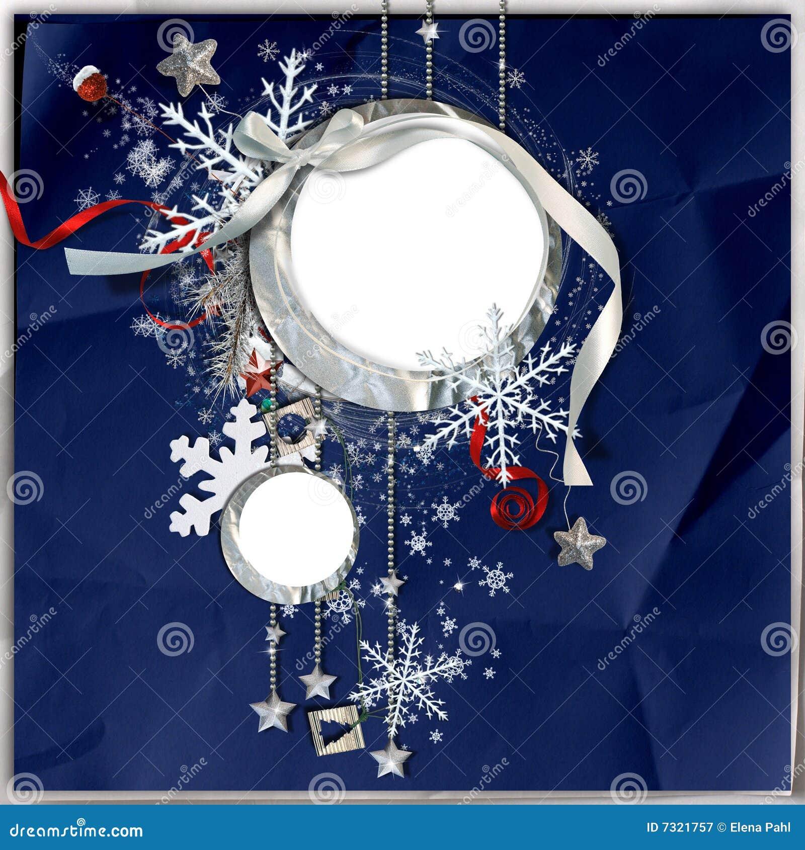 Blocco per grafici di inverno con i fiocchi di neve