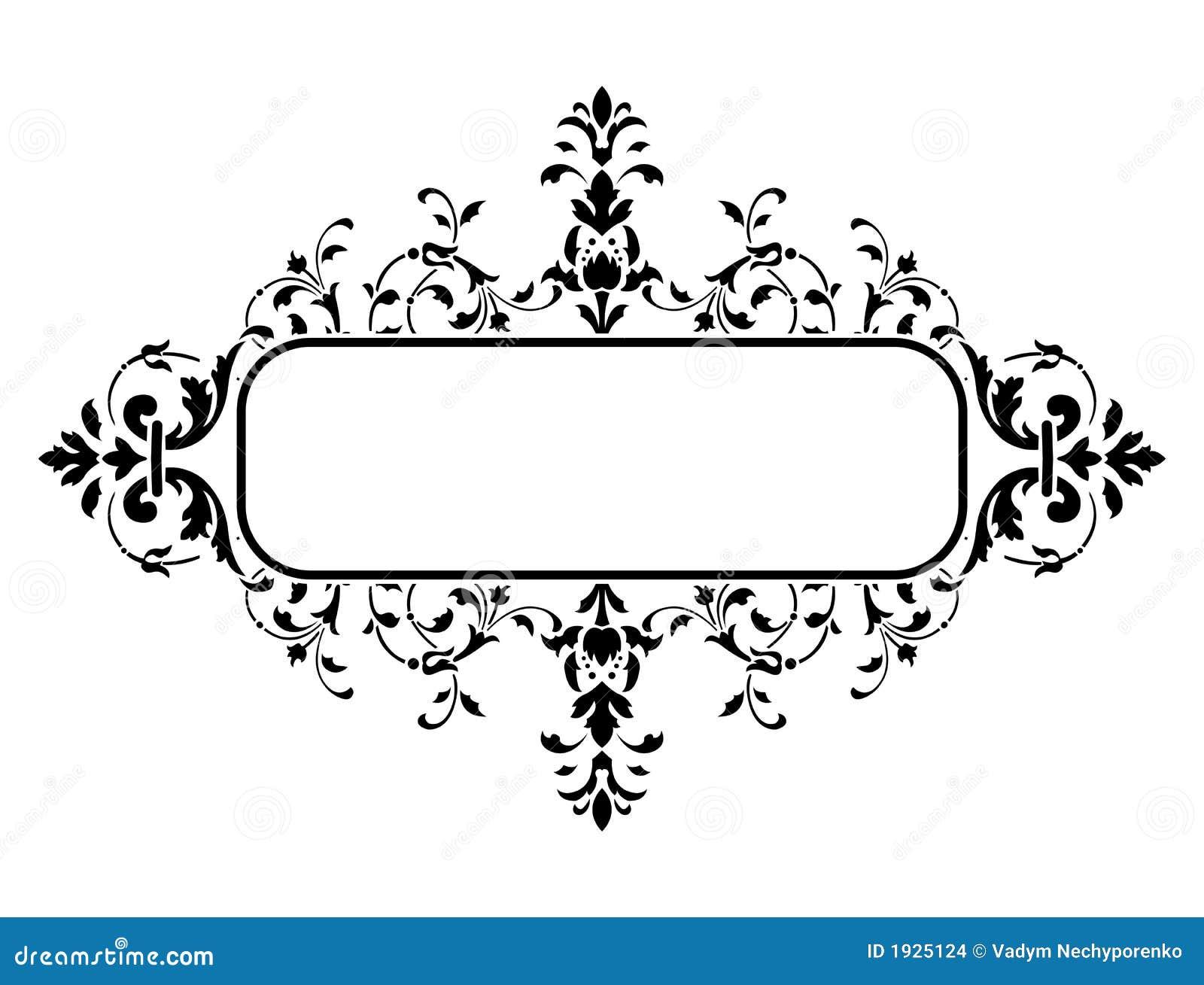 Blocco per grafici nero con la decorazione floreale for Decorazione floreale