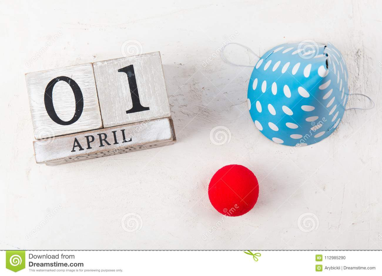 Block calendar on white background.