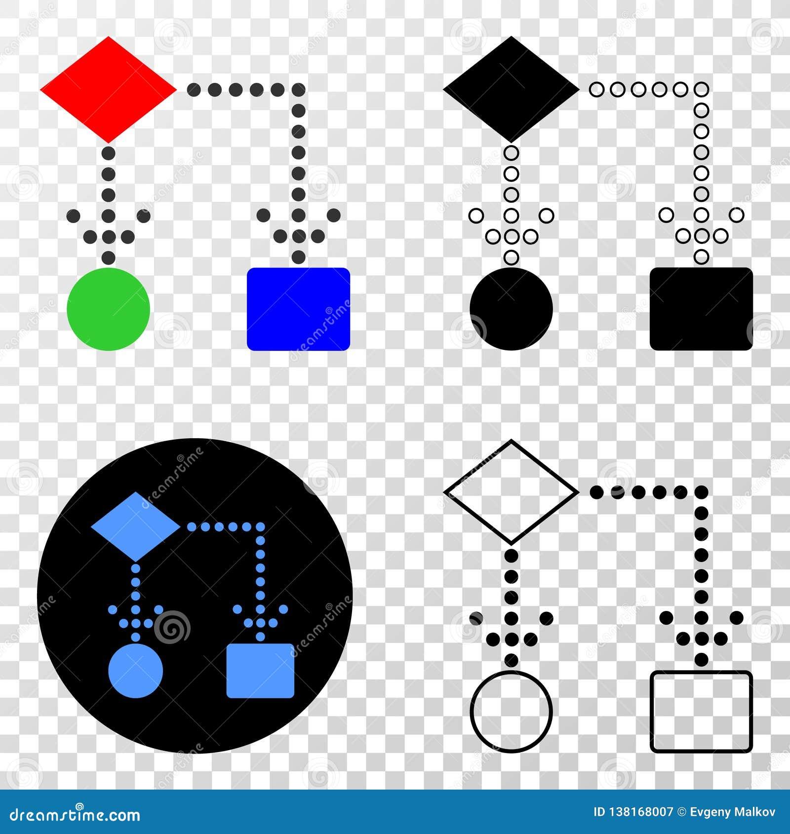 Block Diagram Vector Eps Icon With Contour Version Stock Vector