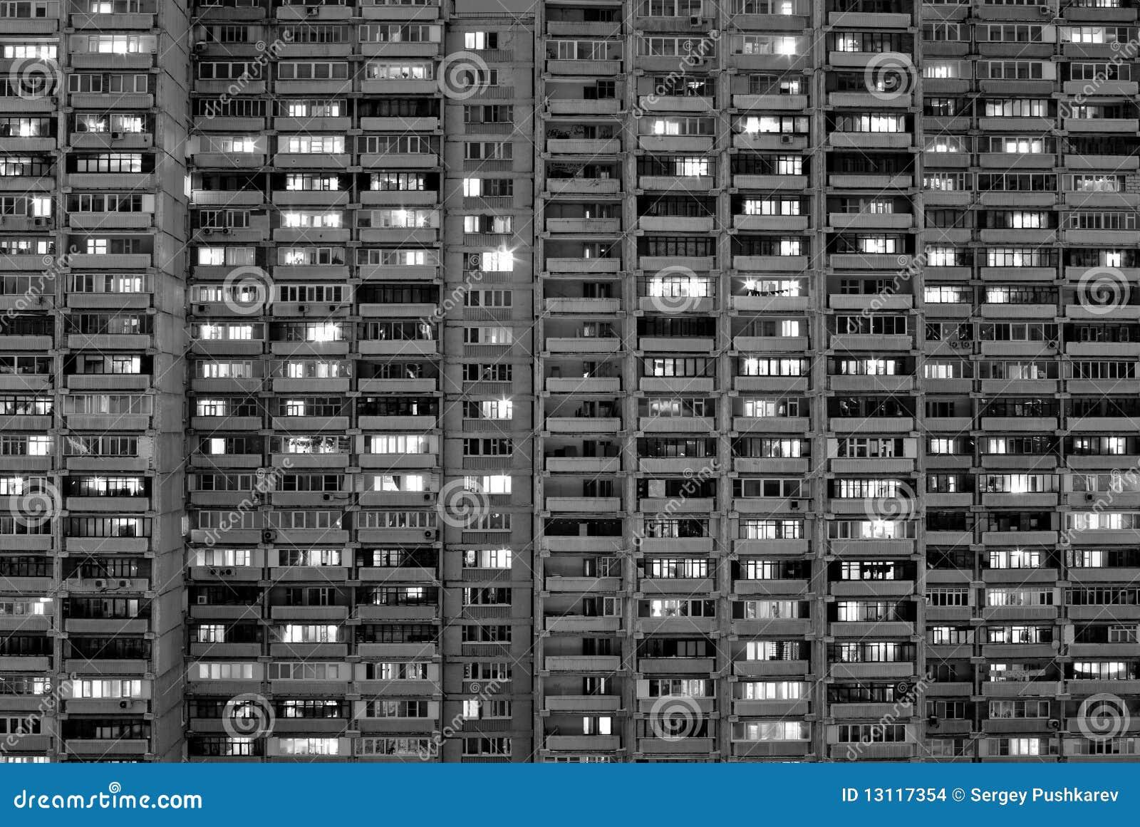 Block of flats in big city