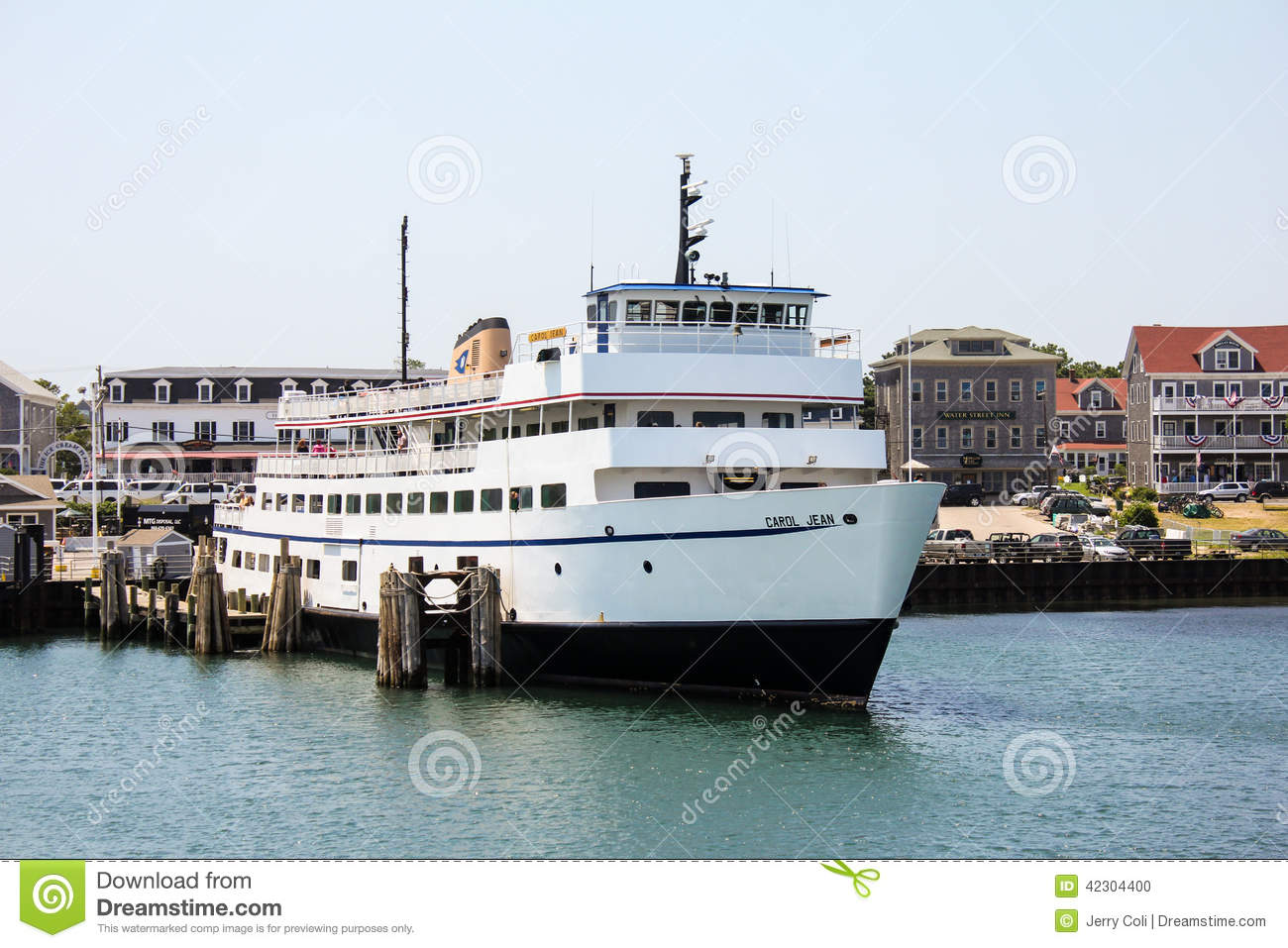 block island ferry, block island, ri. editorial image - image of