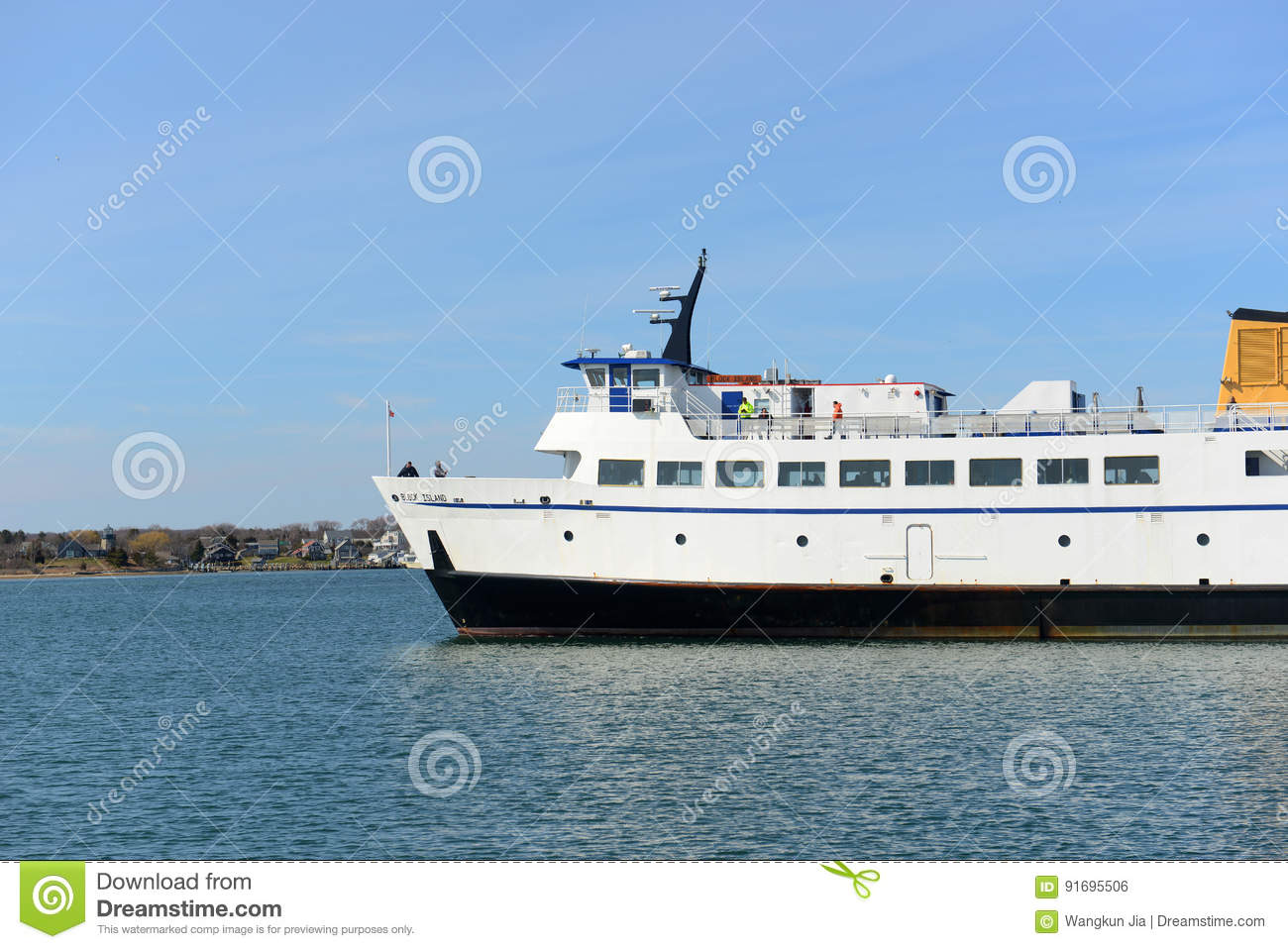 block island ferry, narragansett, ri editorial photo - image of