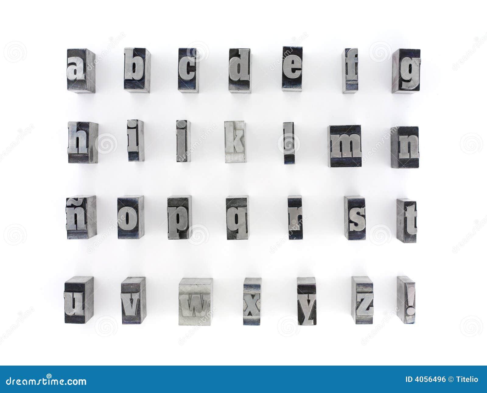 Block Letters Stock Photo Image Of Metal Design Case 4056496