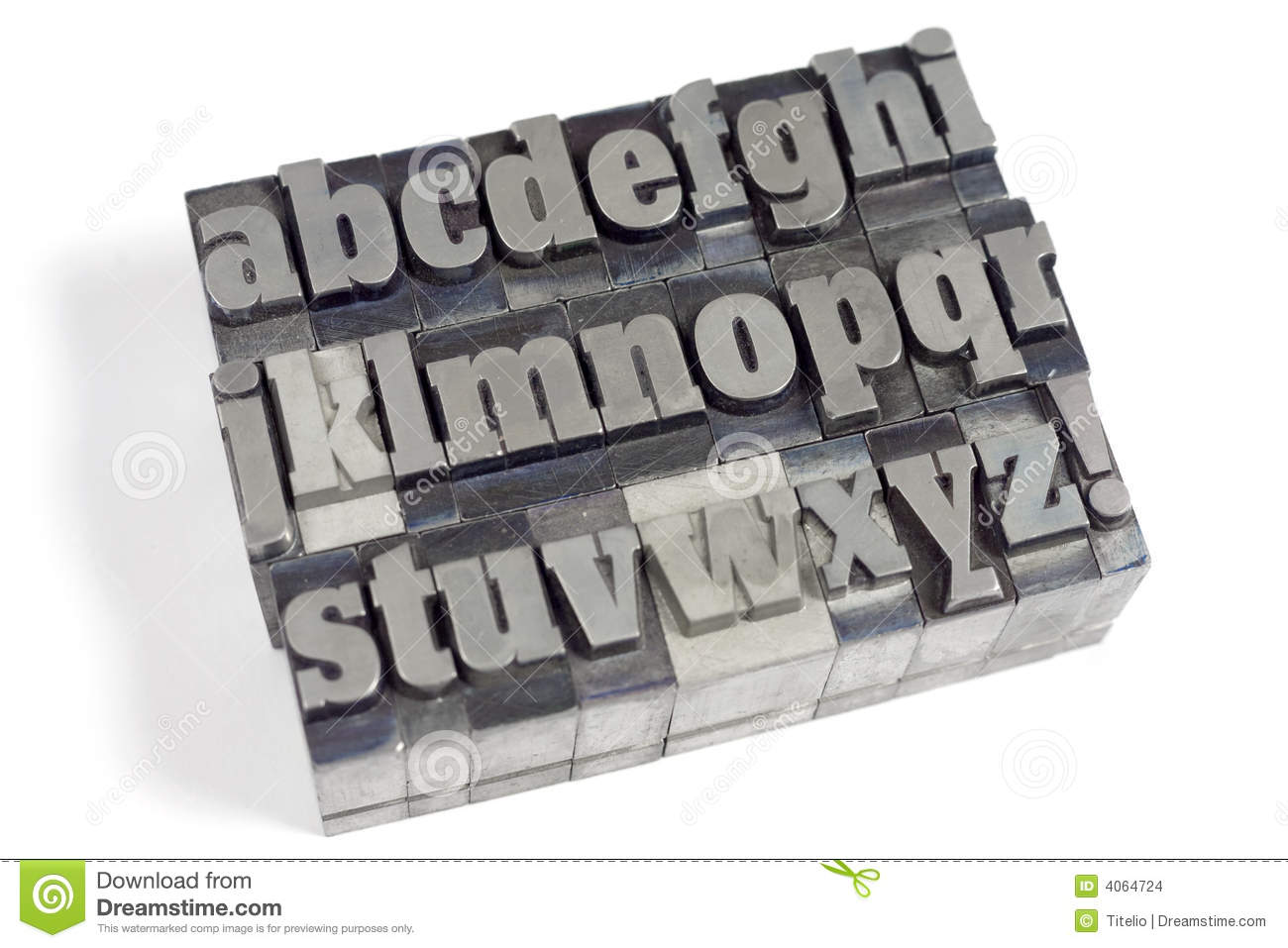 Block Letters Stock Photo Image Of Notice Gray Lower 4064724