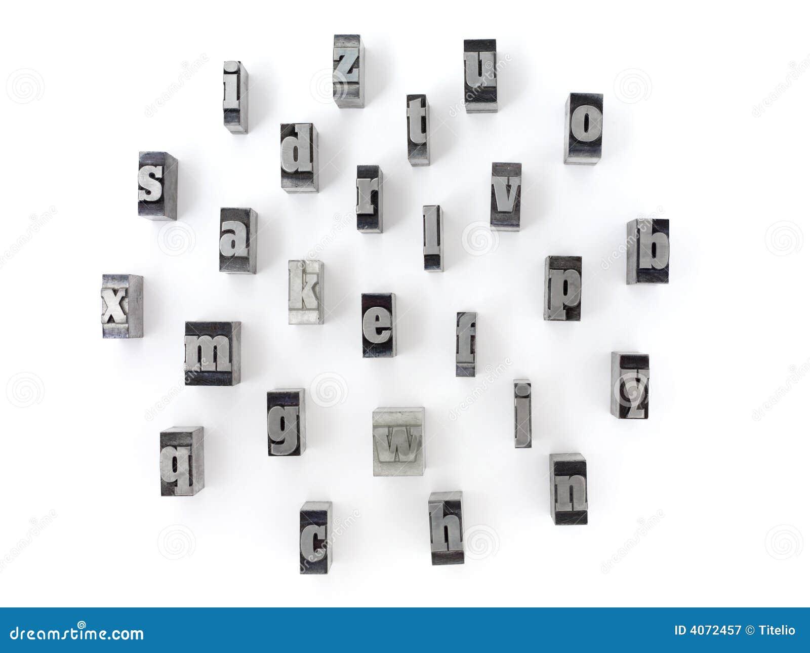 Block Letters Stock Image Image Of Alphabet Print Antiquity 4072457