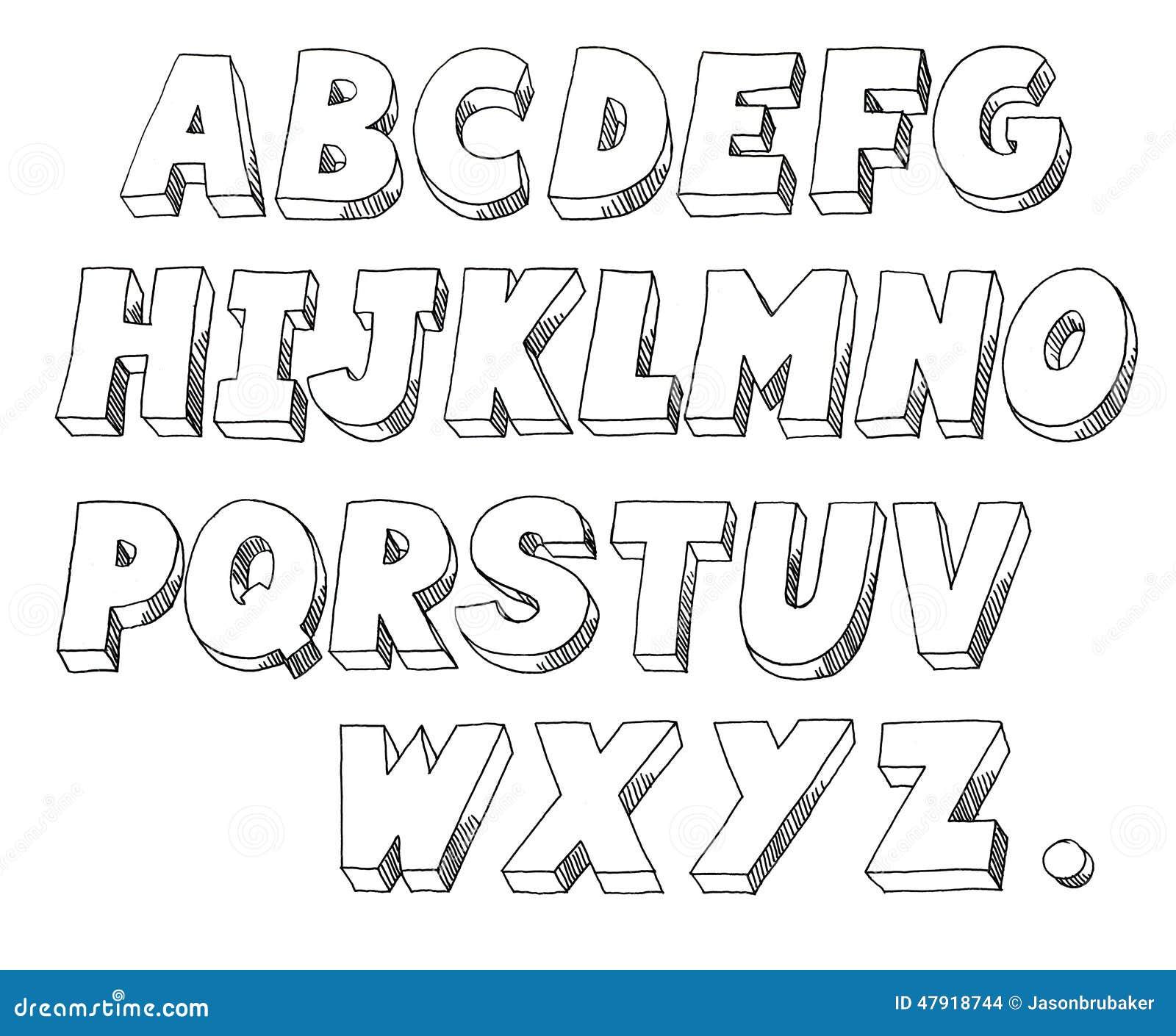Line Art Letters : Block letters stock illustration image