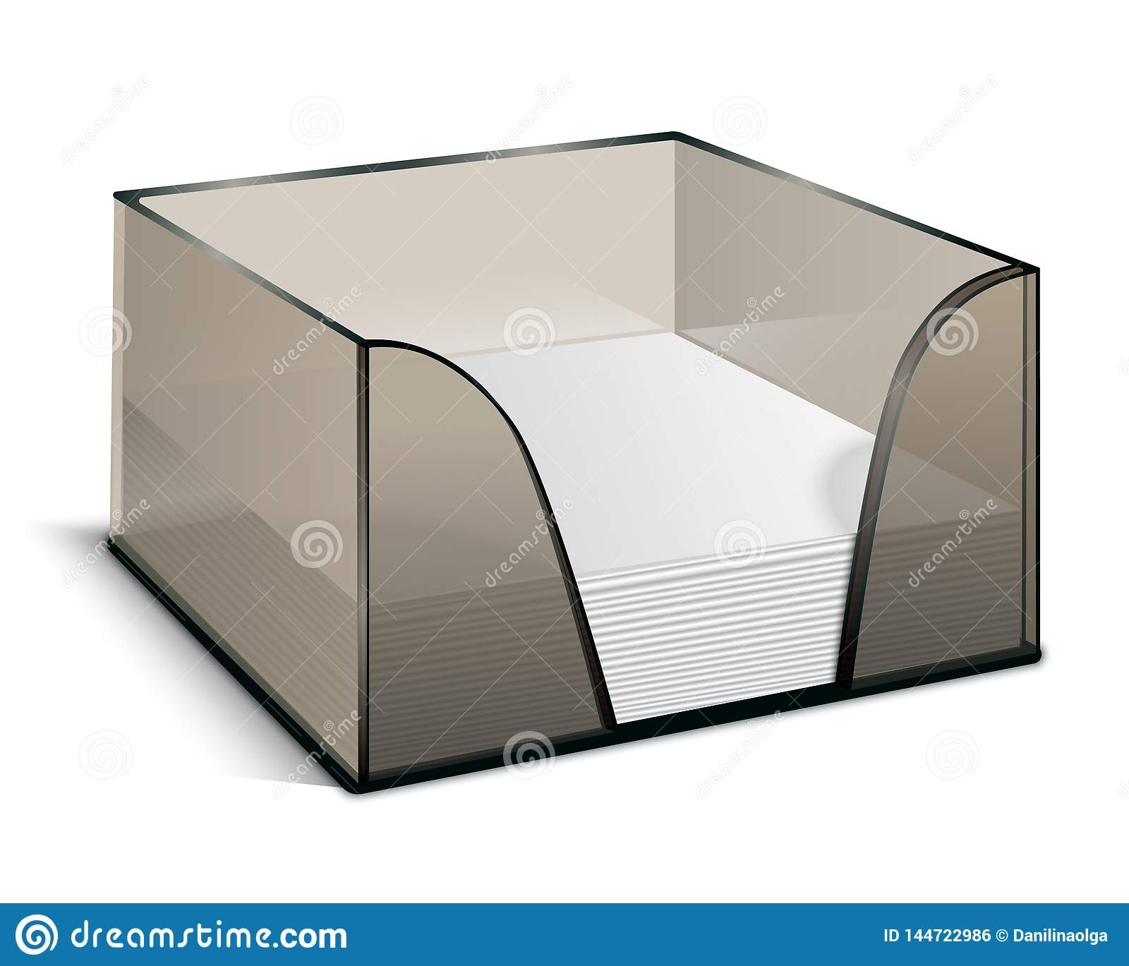Block Of Paper In A Box Stock Vector Illustration Of Office