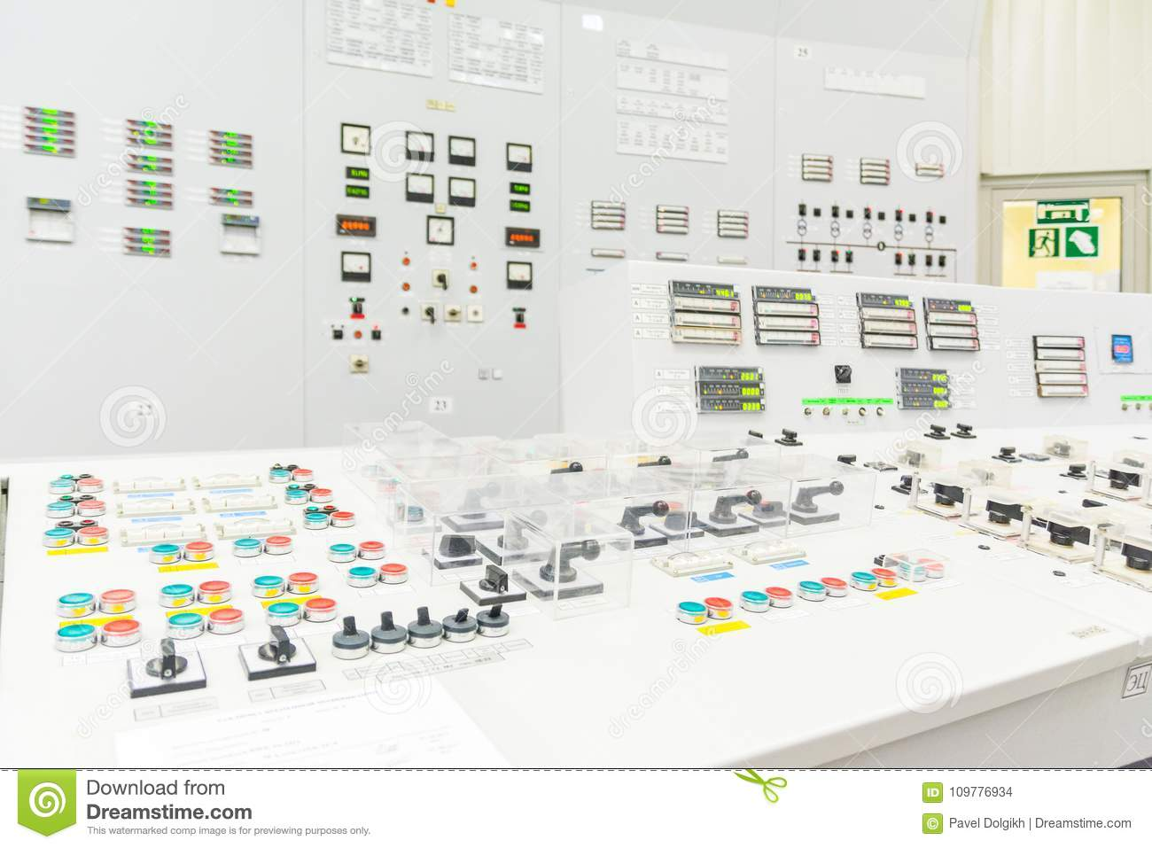 Block reactor control board of nuclear power plant