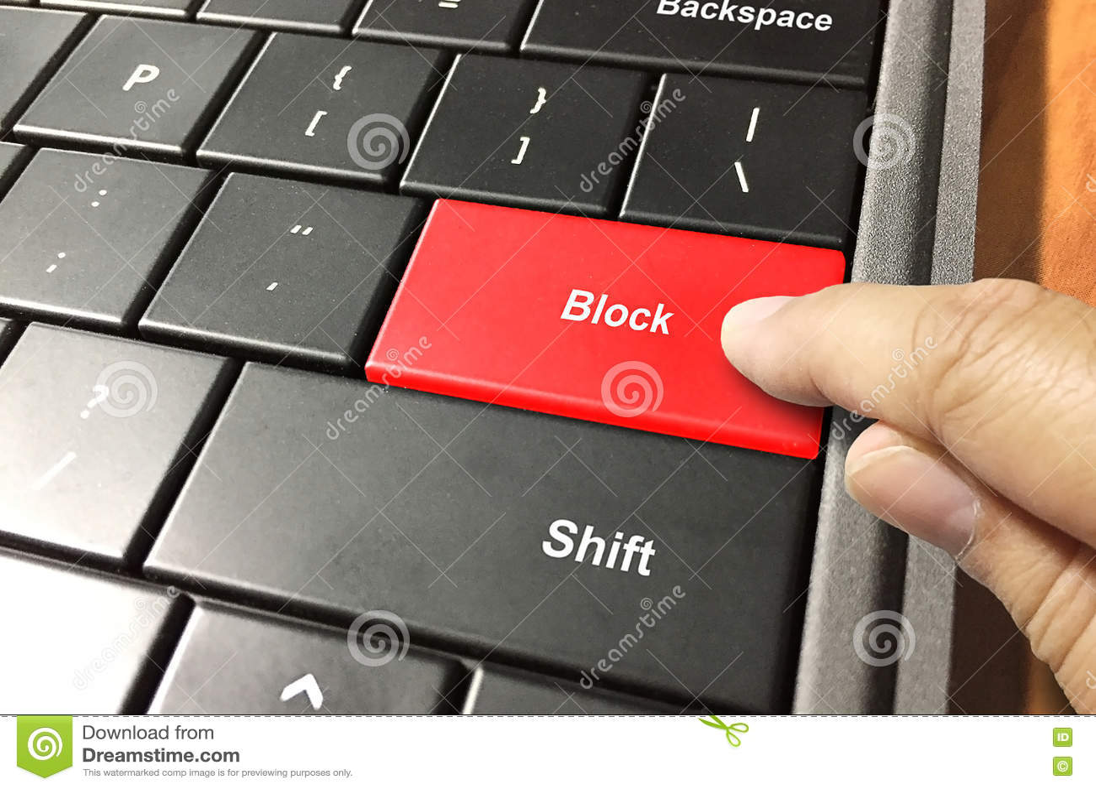 Block Somebody Stock Photo