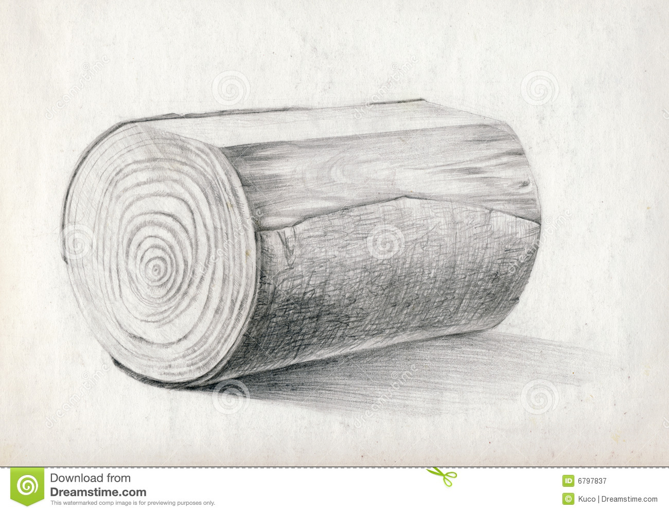 block of wood drawing stock illustration illustration of craft