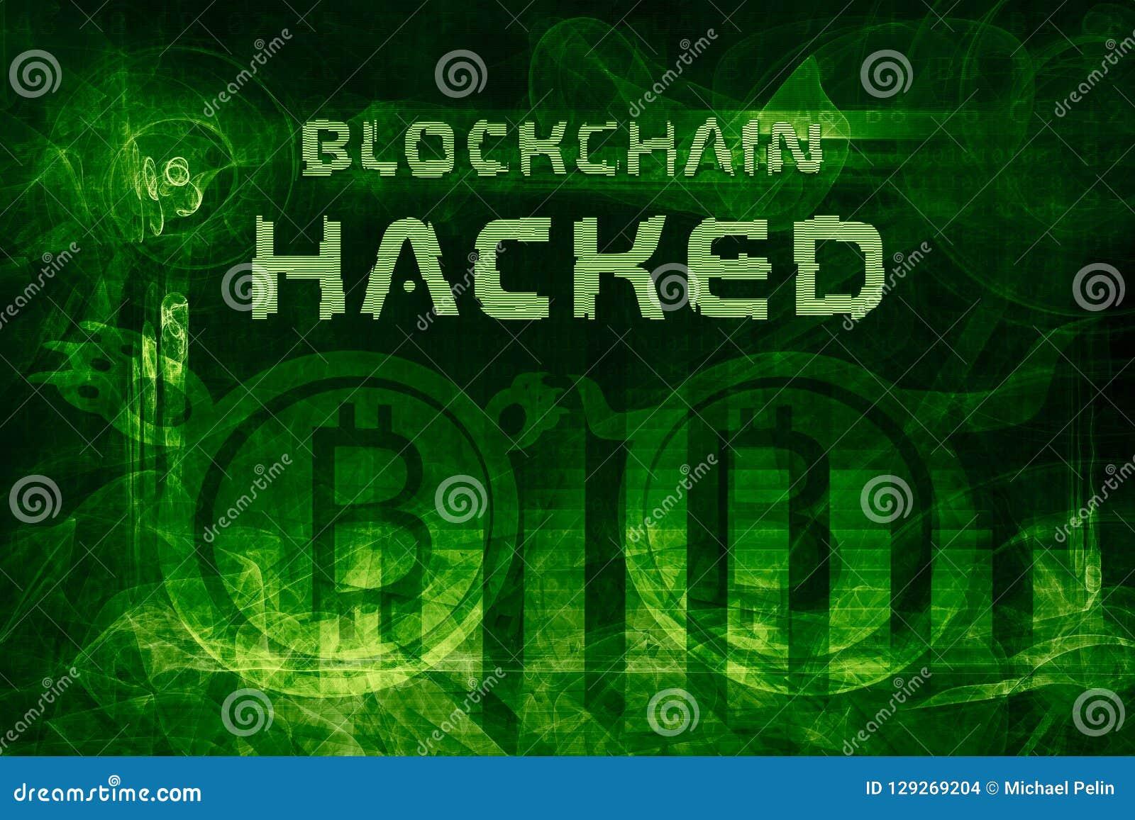 Blockchain hacked abstract 3d illustration