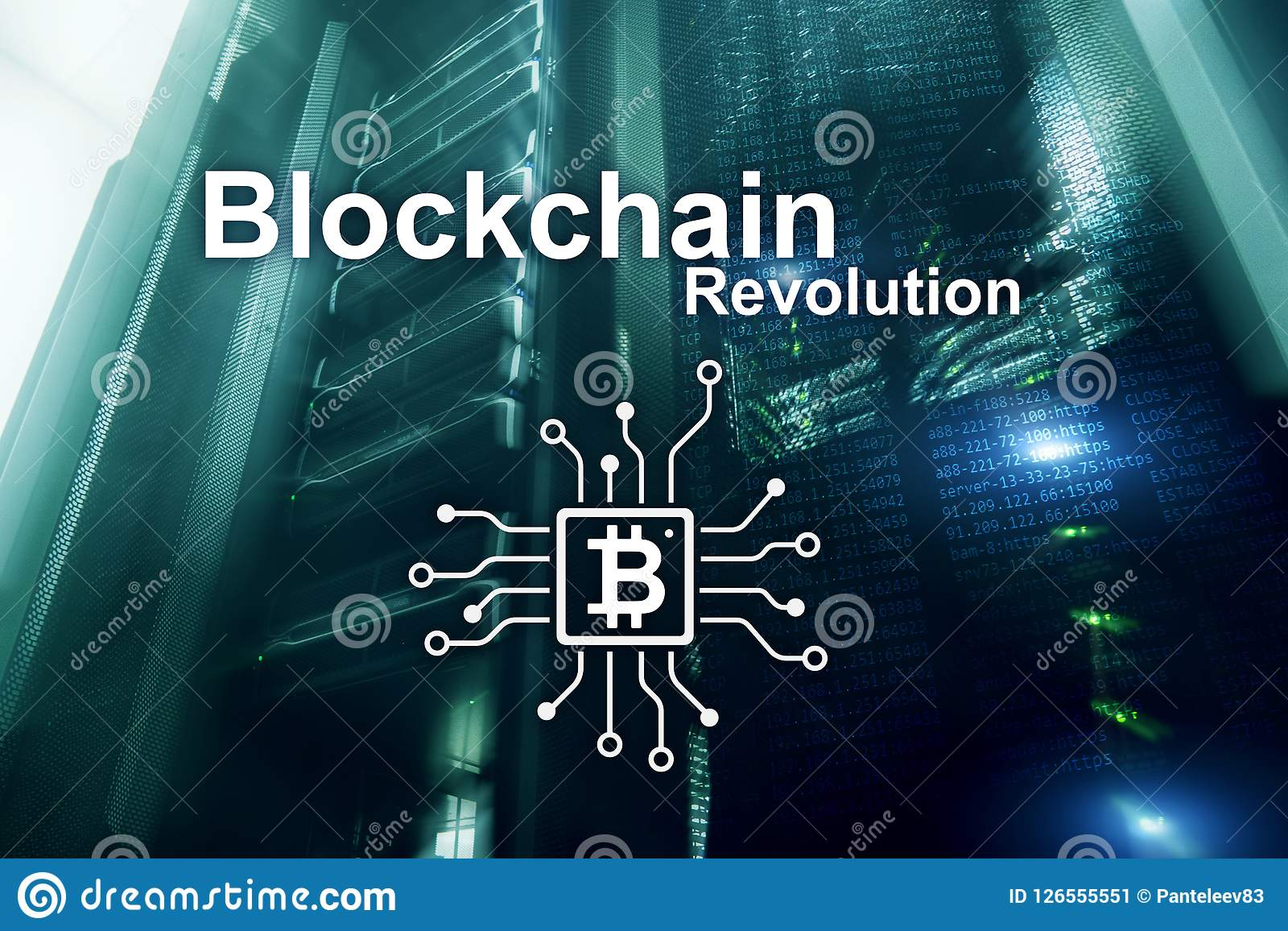 Download Blockchain Revolution Innovation Technology In Modern Business Stock Illustration