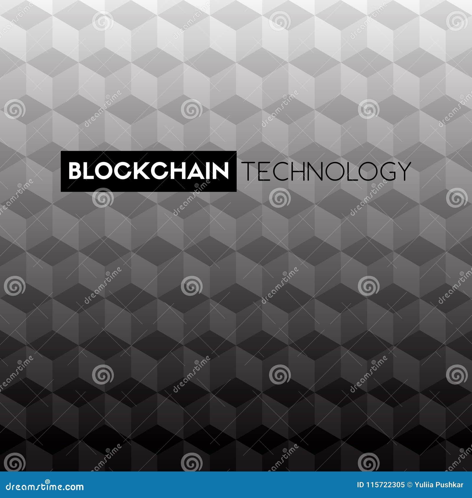 blockchain technology vector black and white background. Black Bedroom Furniture Sets. Home Design Ideas