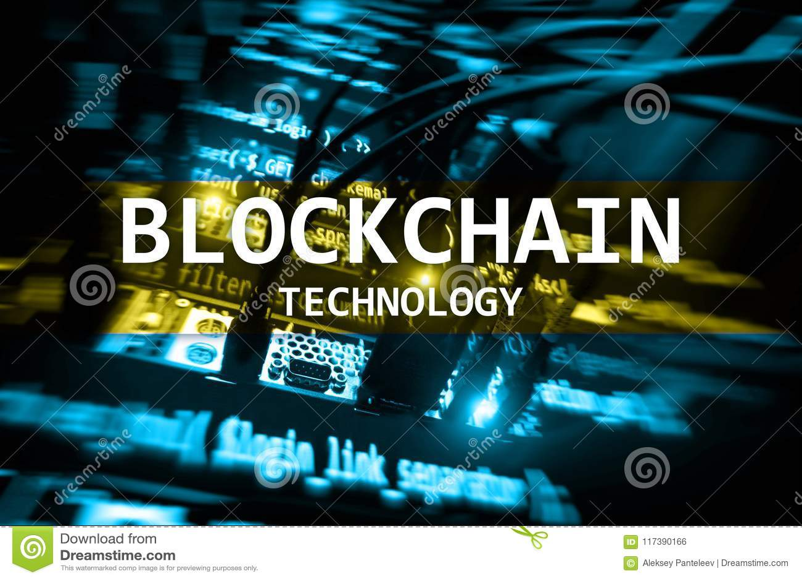 Blockchain teknologi, bryta för cryptocurrency