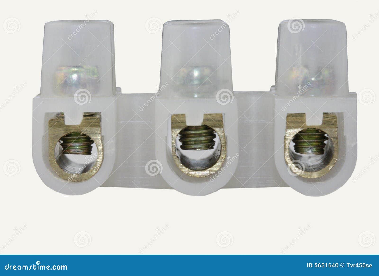 Blockerar den elektriska terminalen för kontaktdon