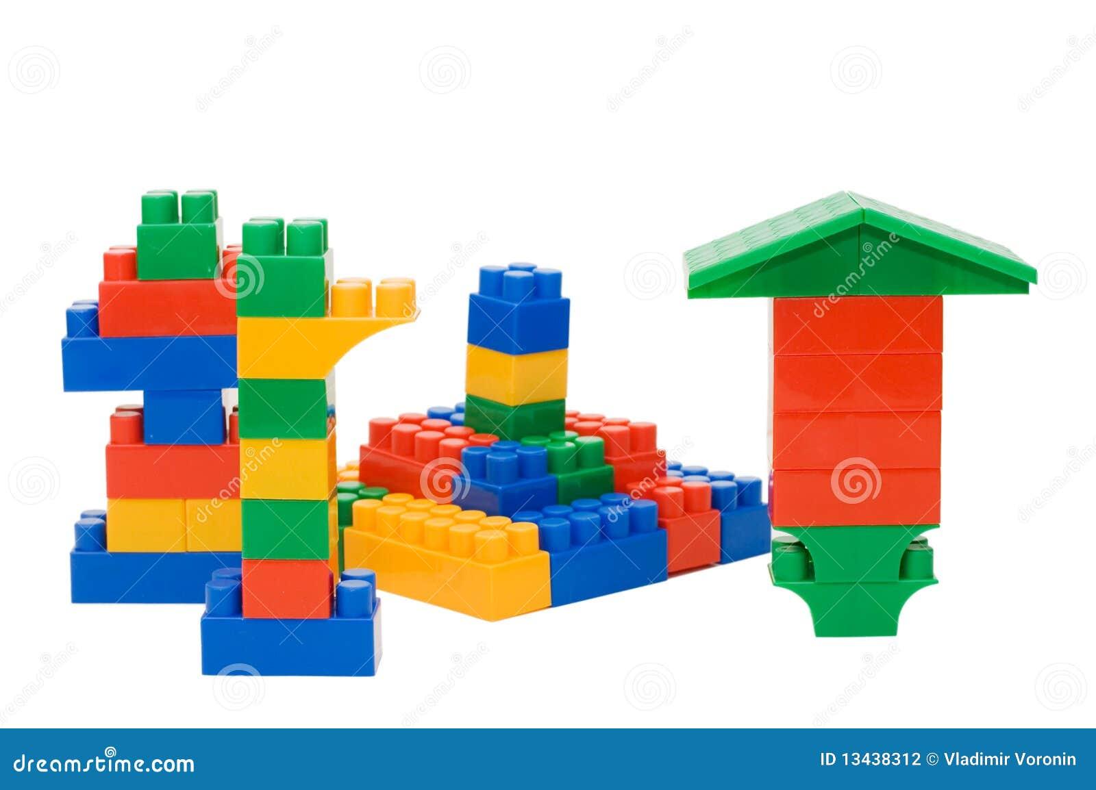 Blockerar plastic märkes- element