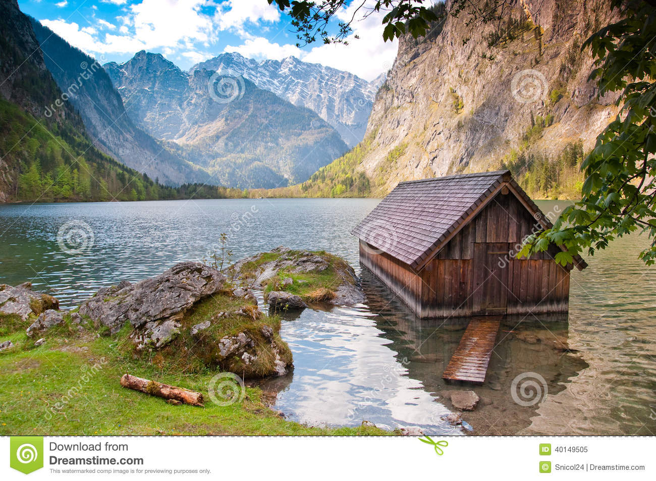 blockhaus auf see obersee see deutschland stockbild. Black Bedroom Furniture Sets. Home Design Ideas