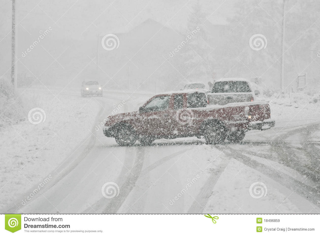Blocking Traffic in Winter Storm