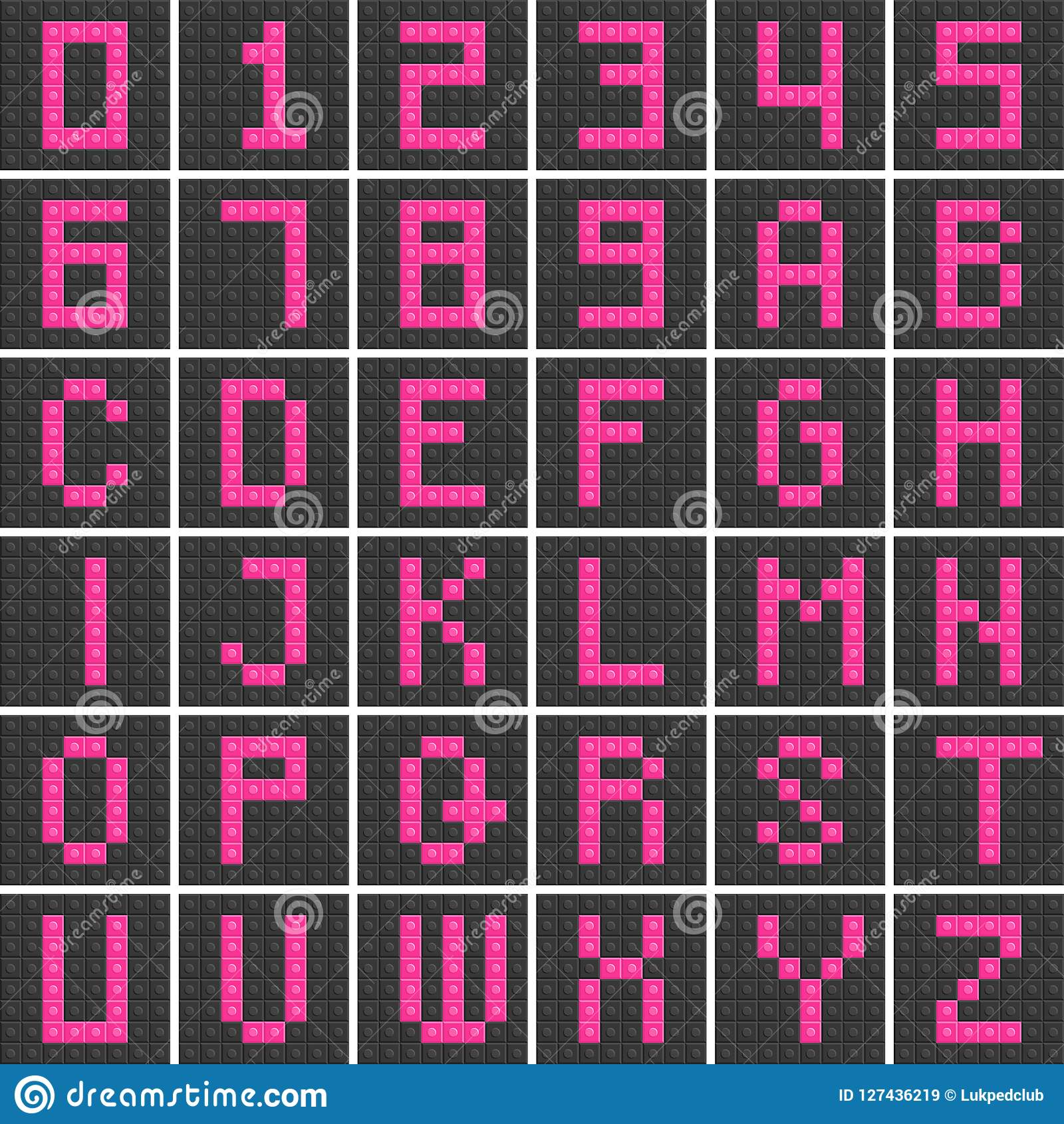 Blocks In English Capital Letter A To Z , Alphabet And Number Se