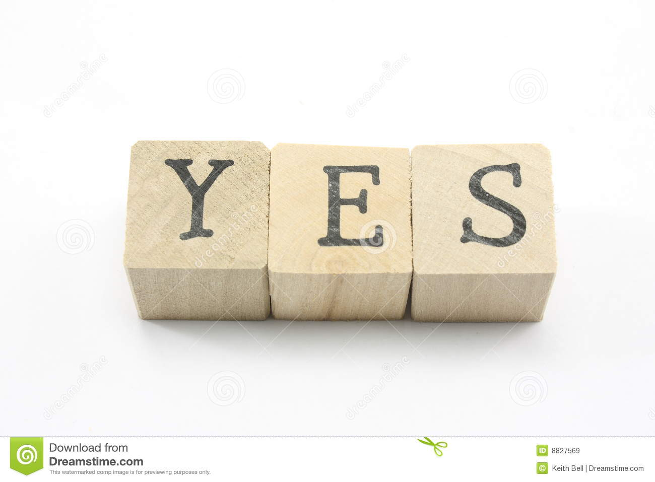 Blocks Spell Yes Stock Image Image Of Symbol Agree 8827569