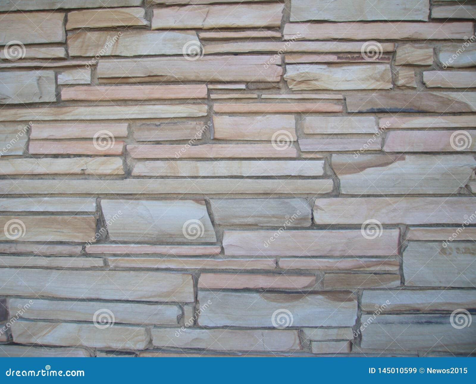 Blocky stena väggen med stenar av olika format 5