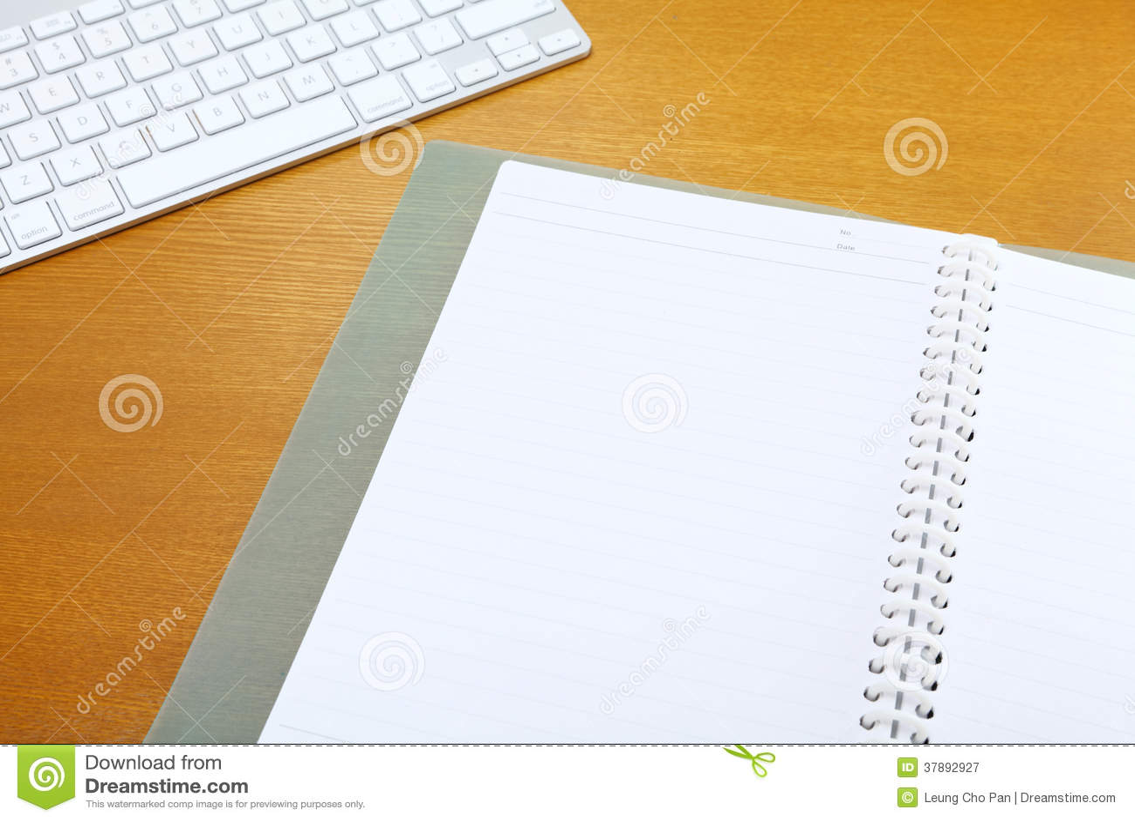 Blocnote en toetsenbord