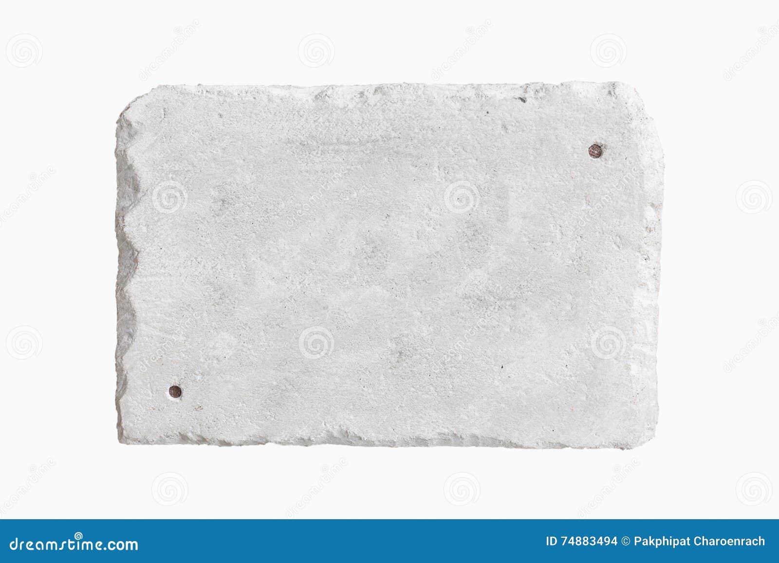 Bloco de cimento usado como o material na estrutura da construção - Iso