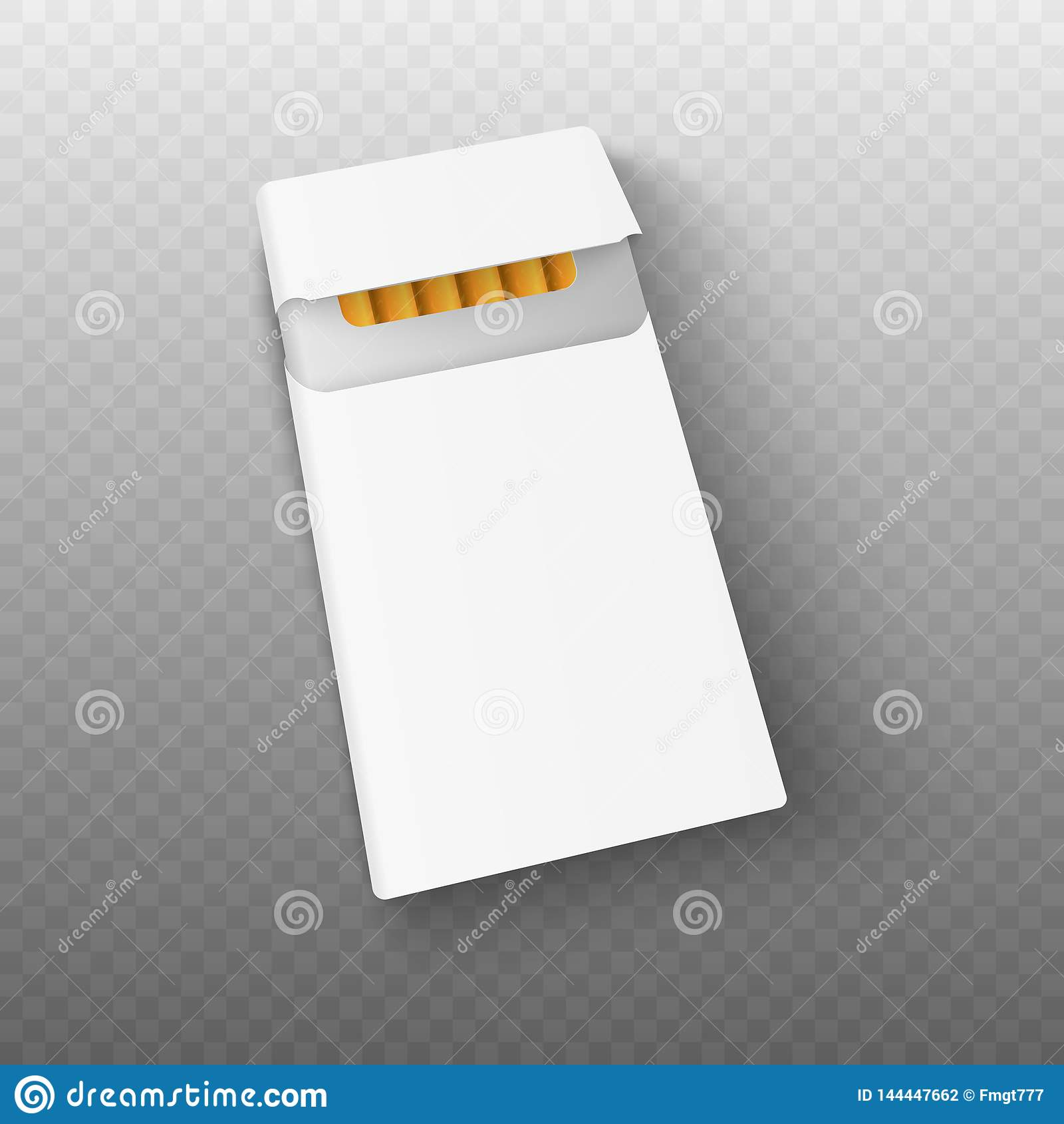 Bloco do modelo 3d de cigarros realístico Vetor