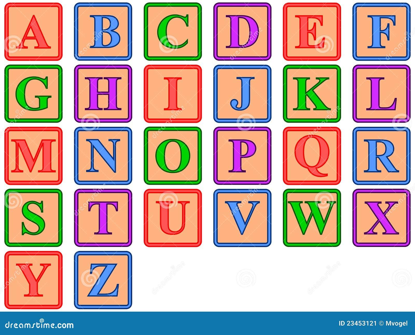 Blocos Do ABC Imagem de Stock - Imagem: 23453121
